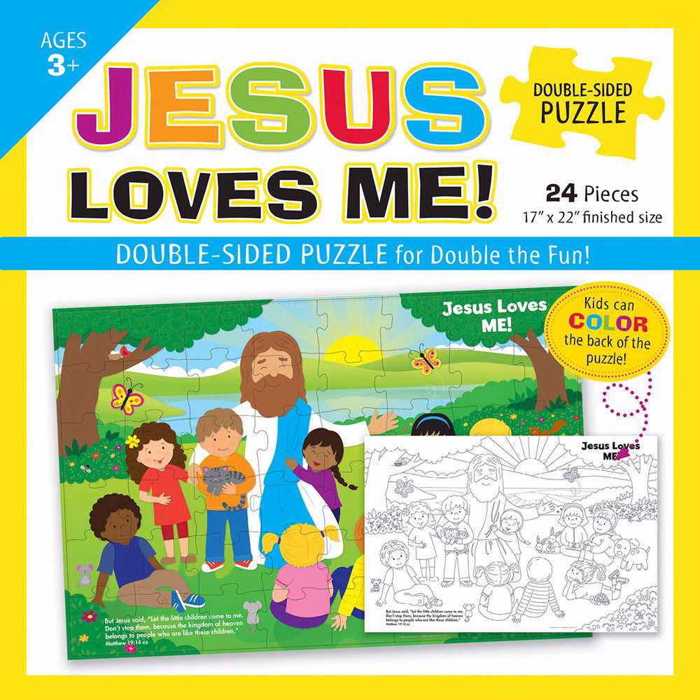 Puzzle-Jesus Loves Me Double-Sided Puzzle (Ages 3+)