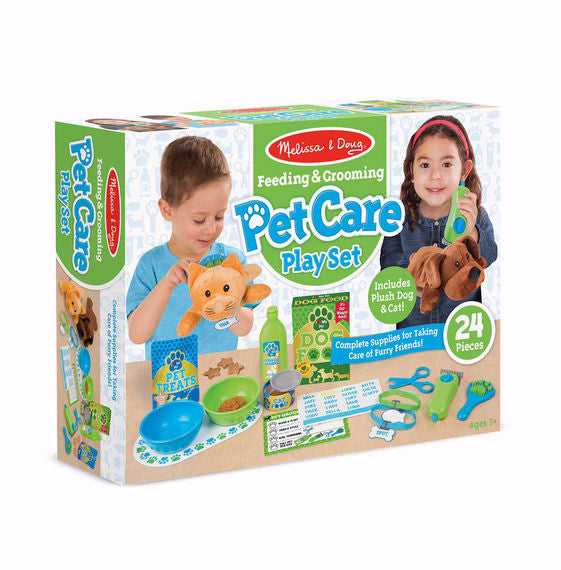 Pretend Play-Feeding & Grooming Pet Care Play Set (24 Pieces) (Ages 3+)