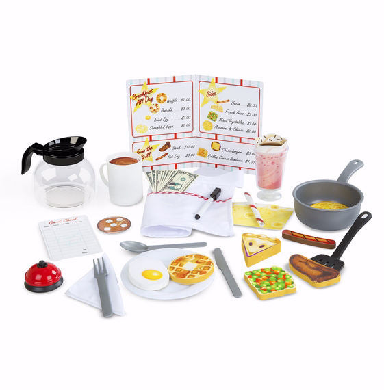 Pretend Play-Star Diner Restaurant Play Set (41 Pieces) (Ages 3+)
