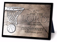Plaque-Moments Of Faith: Basketball Sculpture (#20756)