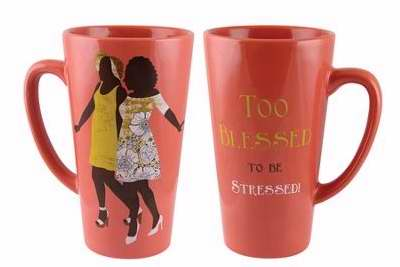 Mug-Latte-Too Blessed To Be Stressed