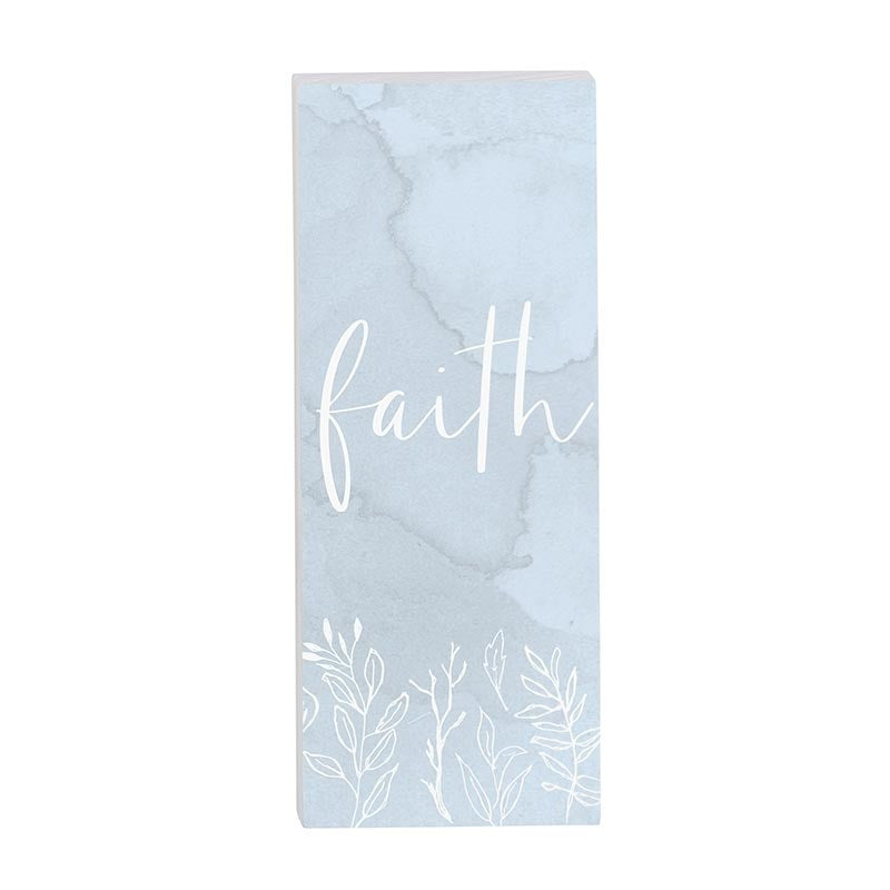 "Vertical Standing Block-Faith (2"" x 5"")"