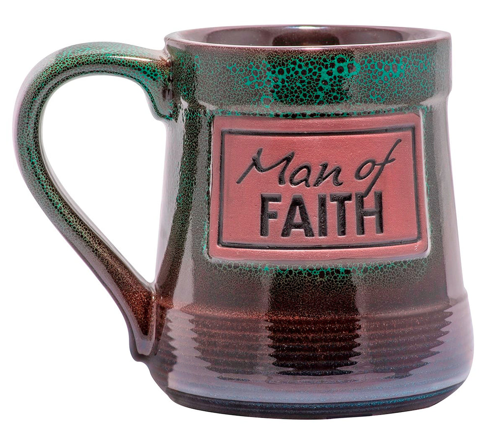 Mug-Pottery-Man Of Faith (20 Oz)