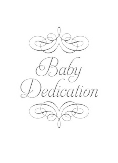 Certificate-Baby Dedication (1 Samuel 1:27) (Silver Foil Embossed  Premium Stock) (Pack Of 6)