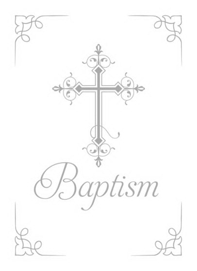 Certificate-Baptism-Cross (1 Corinthians 12:13) (Silver Foil Embossed  Premium Stock) (Pack Of 6)