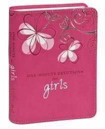One Minute Devotions For Girls (One Minute Devotions)-Pink Luxleather