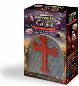 Toy-Playset-The Full Armor Of God: Christian Character-Building Costume-Gray-Red  (6 Piece)