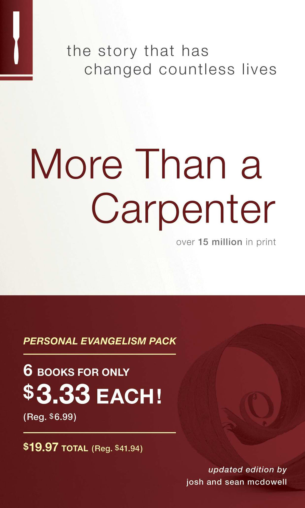 More Than A Carpenter Evangelism Kit (Pack Of 6)