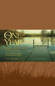 The One Year Walk With God Devotional-Tan LeatherLike
