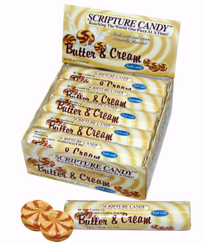 Candy-Scripture Butter & Cream Rolls (Pack Of 10)