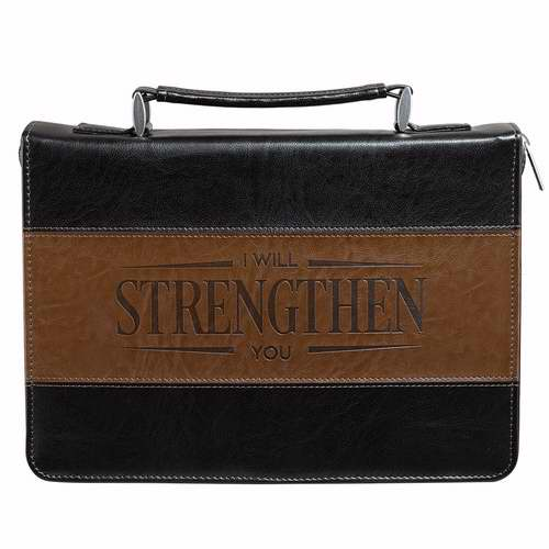 Bible Cover-Classic-Strength-Large-Black-Brown