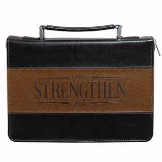 Bible Cover-Classic-Strength-Medium-Black-Brown