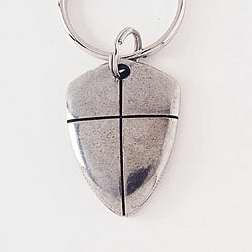 Key Chain-Shield Of Faith (Cross)-Pewter