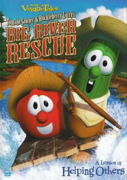 DVD-Veggie Tales: Big River Rescue-Tomato Sawyer & Huckleberry Larry