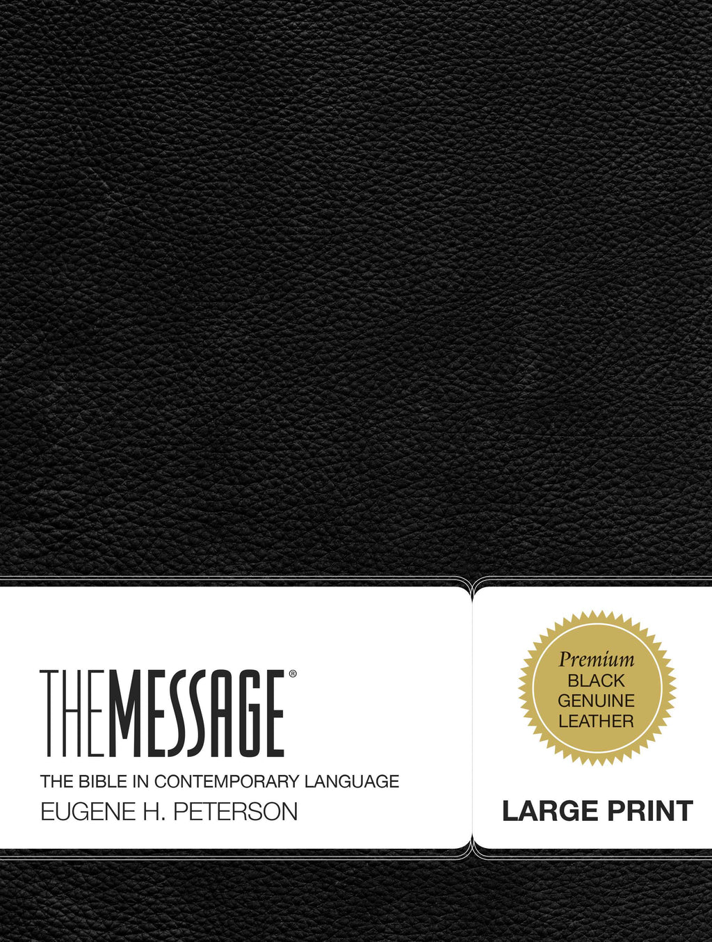 Message-Large Print Bible (Numbered Edition)-Black Genuine Leather