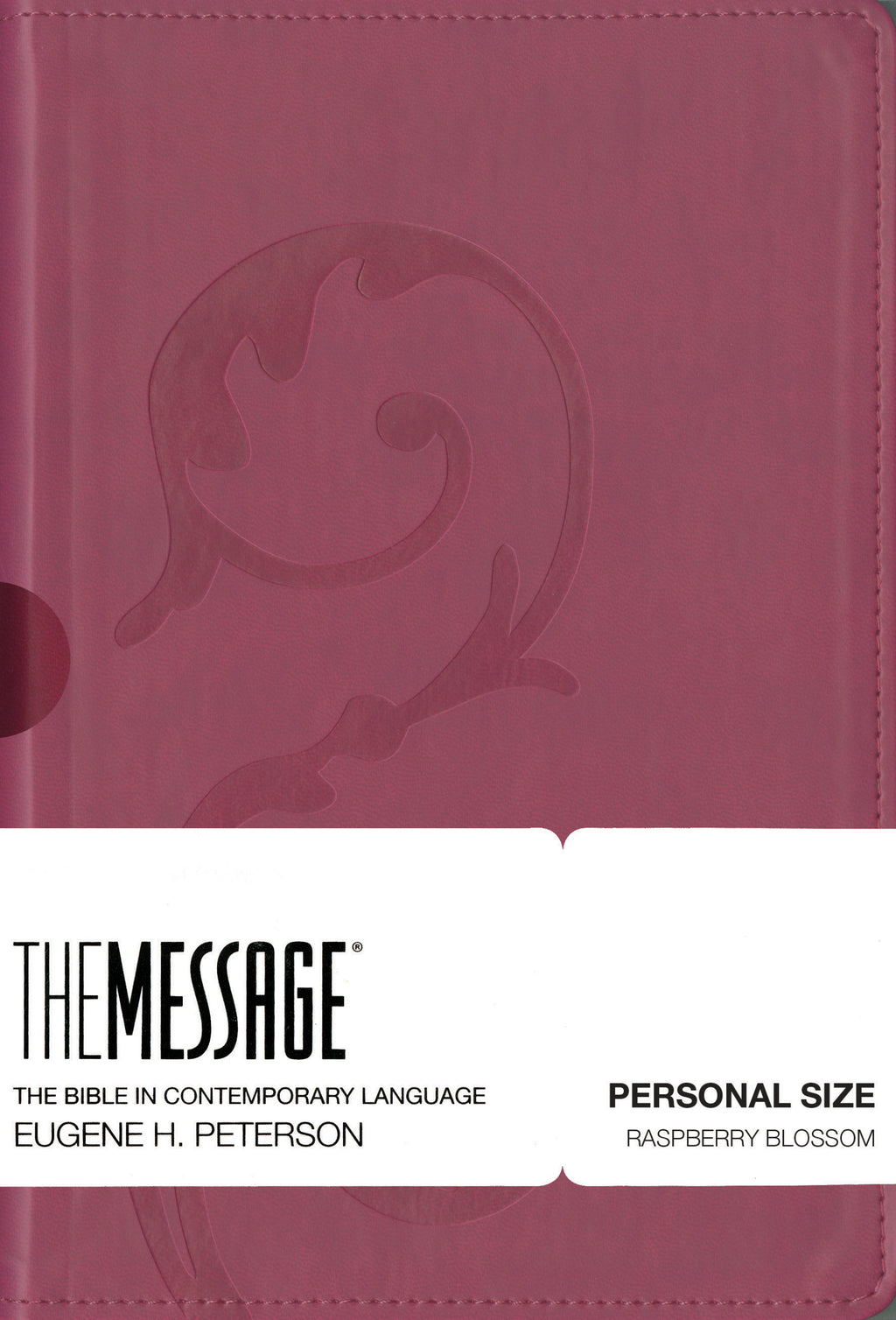 Message-Personal Size Bible (Numbered Edition)-Raspberry Blossom LeatherLook