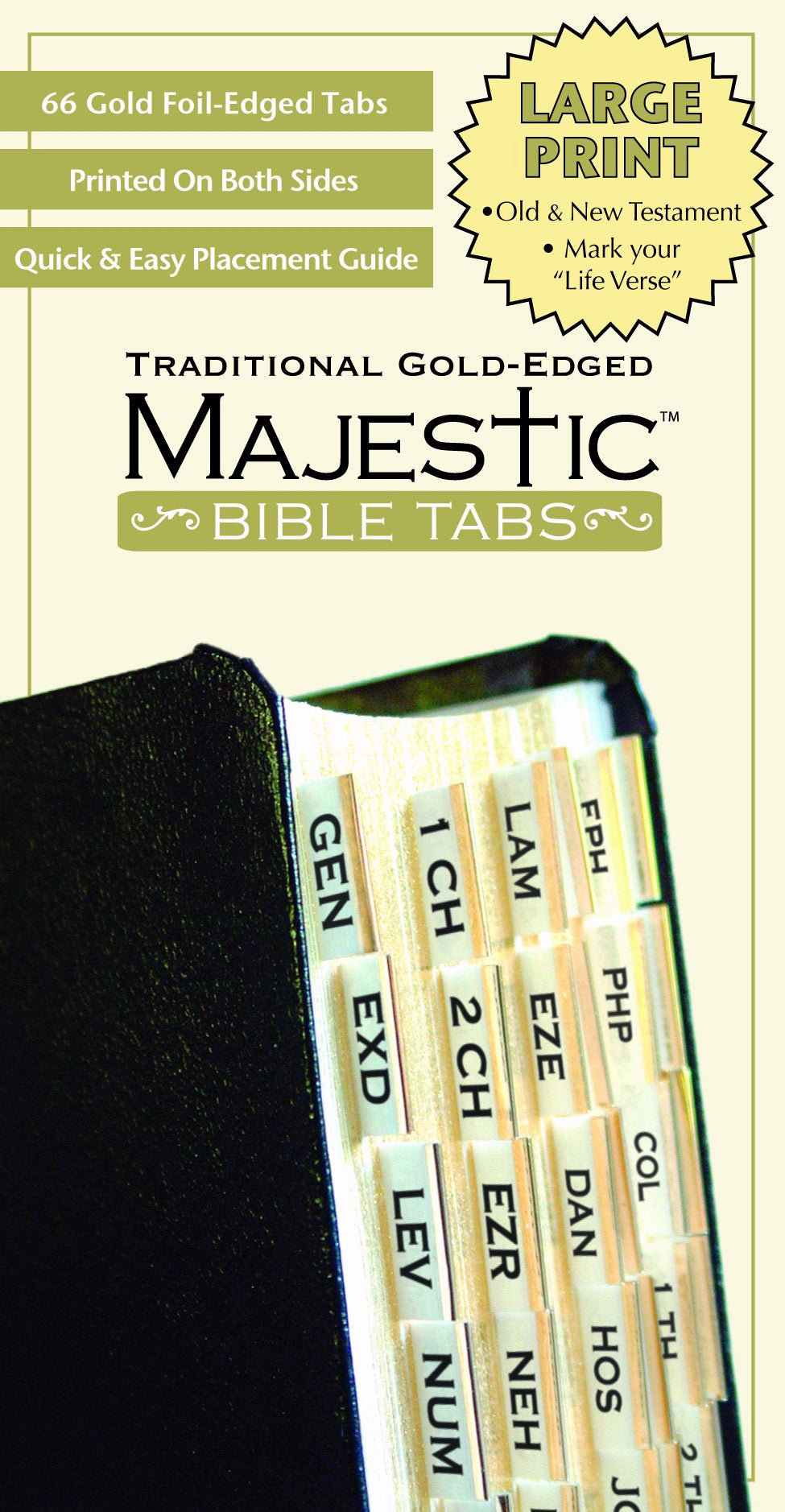 Bible Tab-Majestic-Traditional Gold Edged-Large Print