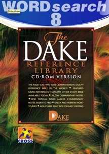 Software-KJV Dake Reference Library-WORDSeach 11 (MAC & PC) (CD-Rom)