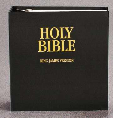 KJV Loose Leaf Bible w-Three Ring Binder