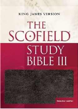 KJV Scofield Study Bible III-Black Genuine Leather Indexed (Super Saver)