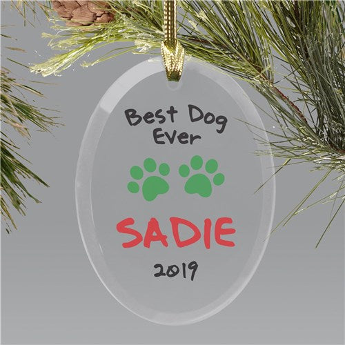Personalized Pet Christmas Ornament Best Dog Ever