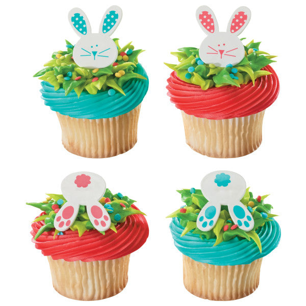 Easter Cupcake Rings Bunny and Tails
