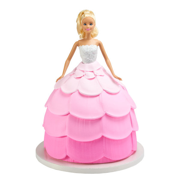 Caucasian Barbie™ Cake Topper Deluxe Let's Party