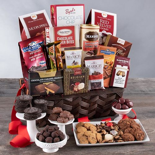 Valentines Day Gift Basket of Chocolate Madness
