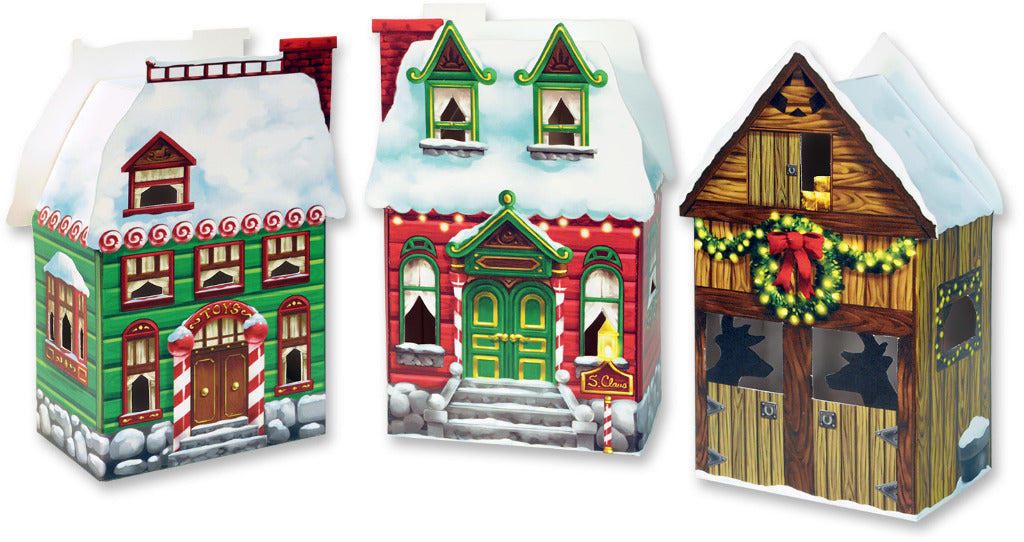 Christmas Village Favor Boxes - CASE OF 24