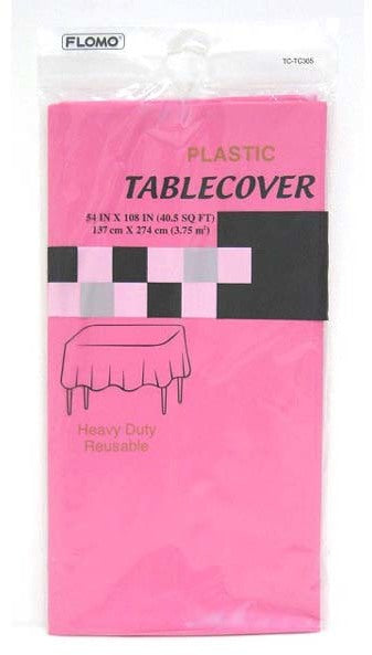 "HOT PINK RECTANGULAR TABLE COVER Table Cover Size 54"" x 108"" - CASE OF 36"