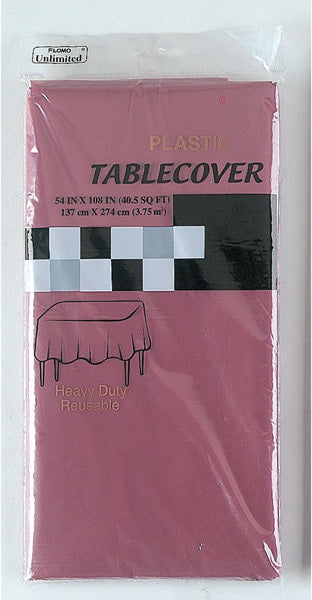 "RED WINE RECTANGULAR TABLE COVER Table Cover Size 54"" x 108"" - CASE OF 36"