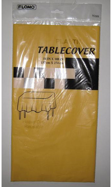 "CITRUS YELLOW RECTANGULAR TABLE COVER Table Cover Size 54"" x 108"" - CASE OF 36"
