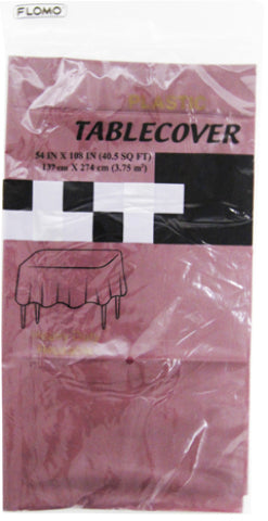 "PLUM RECTANGULAR TABLE COVER Table Cover Size 54"" x 108"" - CASE OF 36"