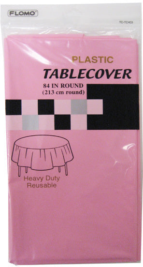 PASTEL PINK ROUND TABLE COVER - CASE OF 36