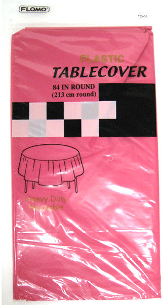 HOT PINK ROUND TABLE COVER - CASE OF 36