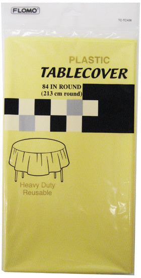 PASTEL YELLOW ROUND TABLE COVER - CASE OF 36