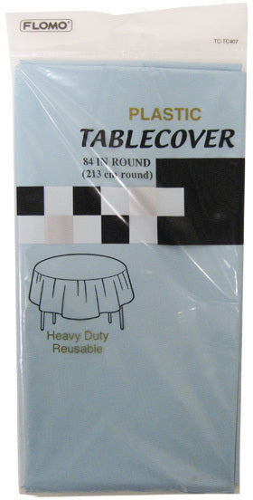 PASTEL BLUE ROUND TABLE COVER - CASE OF 36