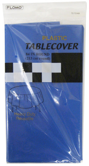 BLUE ROUND TABLE COVER - CASE OF 36