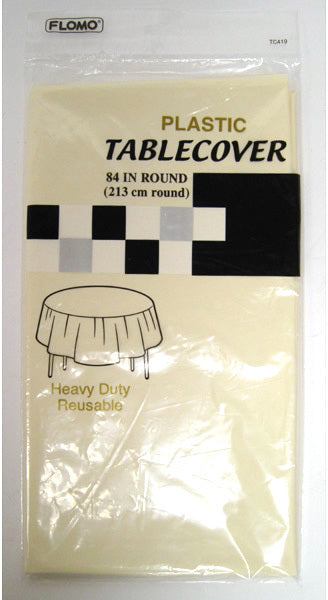 CREAM ROUND TABLE COVER - CASE OF 36