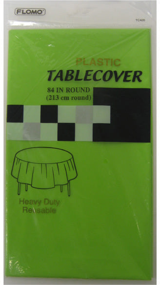 LIME GREEN ROUND TABLE COVER - CASE OF 36