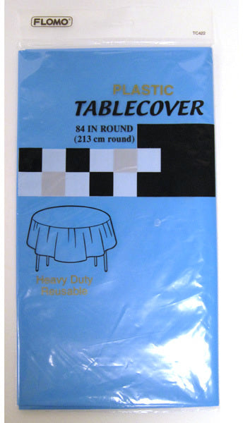 TURQUOISE ROUND TABLE COVER - CASE OF 36