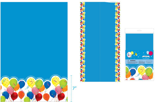 "54""x108"" PRINTED BIRTHDAY DESIGN TABLE COVER, 1 DESIGN - CASE OF 36"