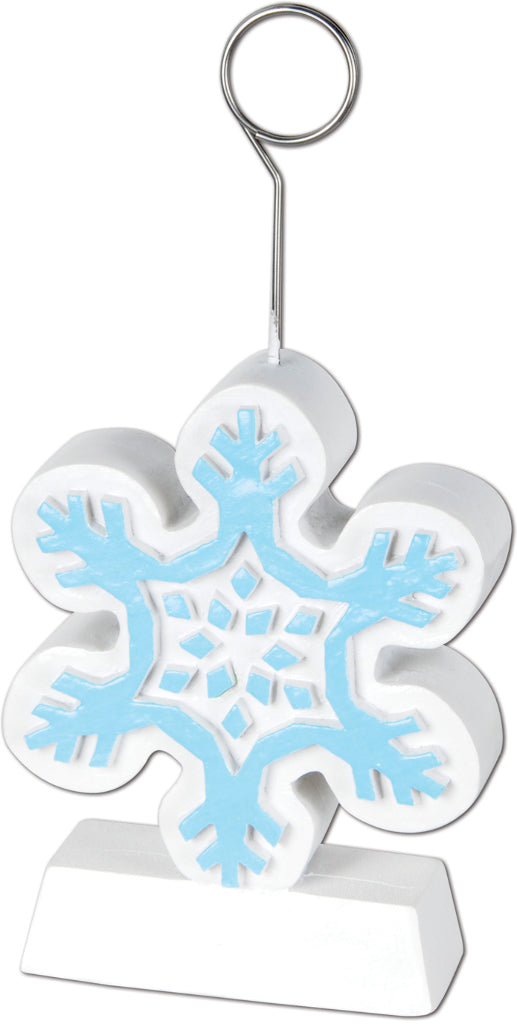 Snowflake Photo-Balloon Holder - CASE OF 12