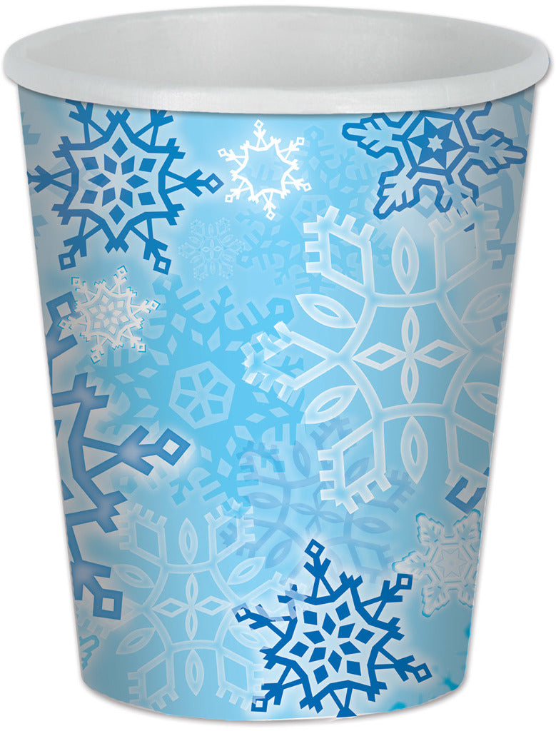 Snowflake Beverage Cups - CASE OF 24