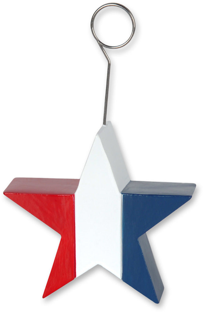 Patriotic Star Photo-Balloon Holder - CASE OF 12