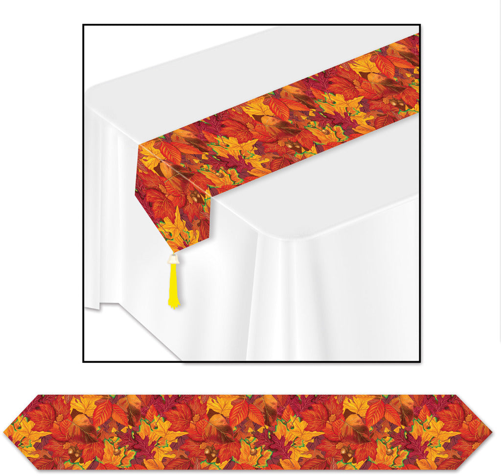 Printed Fall Leaf Table Runner - CASE OF 24
