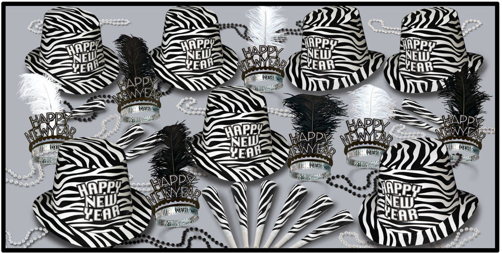Zebra Print Assorted for 50 - CASE OF 1