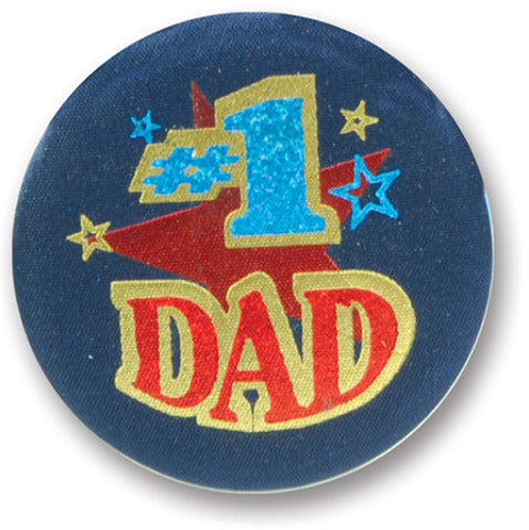 #1 Dad Satin Button - CASE OF 24