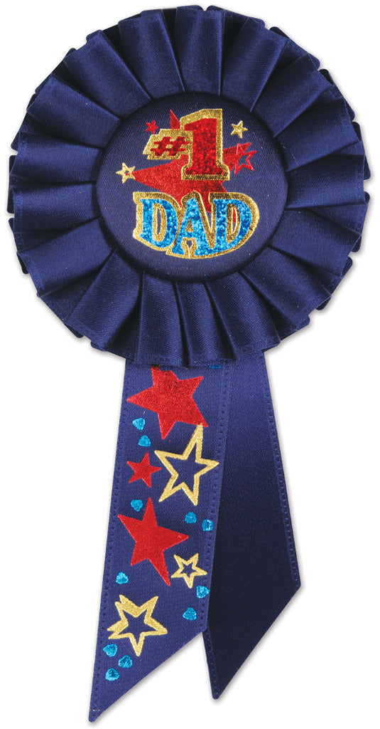 #1 Dad Rosette - CASE OF 12