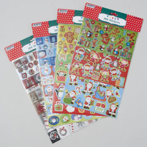 Christmas Sticker Pack- Assorted - CASE OF 96
